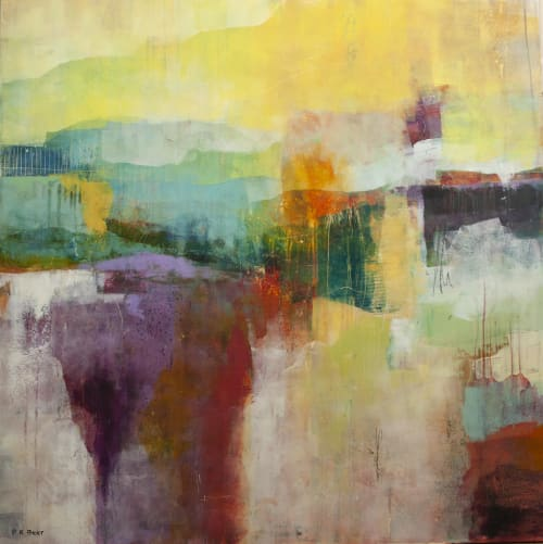 Paintings by Pamela K Beer Contemporary Fine Art seen at Creator's Studio, Kalispell - Distant Canyon