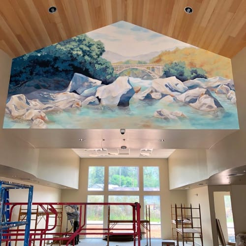 Murals by Sarah Coleman seen at Private Residence, Grass Valley - Interior Mural