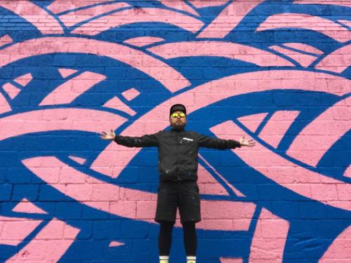 Murals by MOYA seen at The Fridge DC, Washington - MOYA pattern
