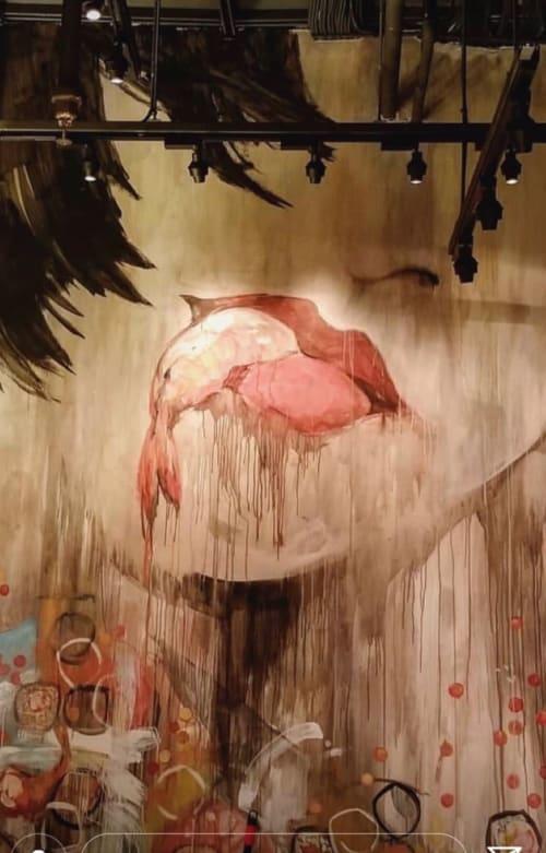 Murals by Medusa Studio seen at The Godfrey Hotel Boston, Boston - Ruka Sushi Bar