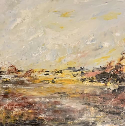Paintings by Mireille Laroche seen at Creator's Studio, Ottawa - Early Rising