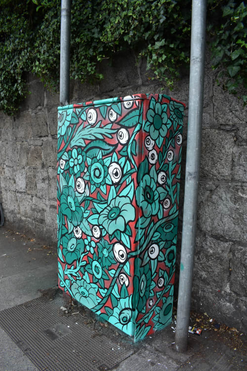 Street Murals by Eye Create Lines seen at Drumcondra Road Upper, Dublin - Nature`s Eyes