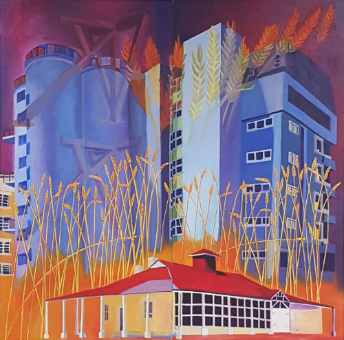 Paintings by Paul Martin seen at Canberra, Canberra - Flour Mill