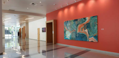 Paintings by Lorene Anderson seen at UC Davis Medical Center, Sacramento - Palace (Sea Fan)