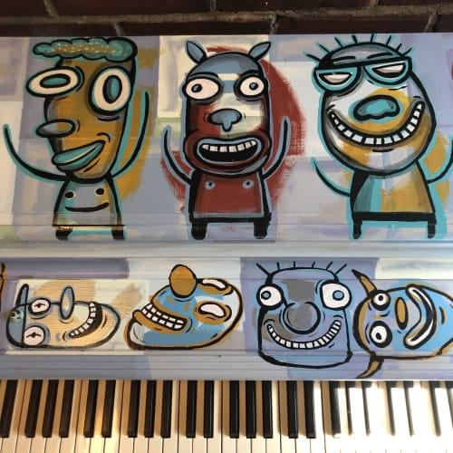 Murals by Gary Hirsch (botjoy) seen at Portland Art Museum, Portland - Joy Maker-