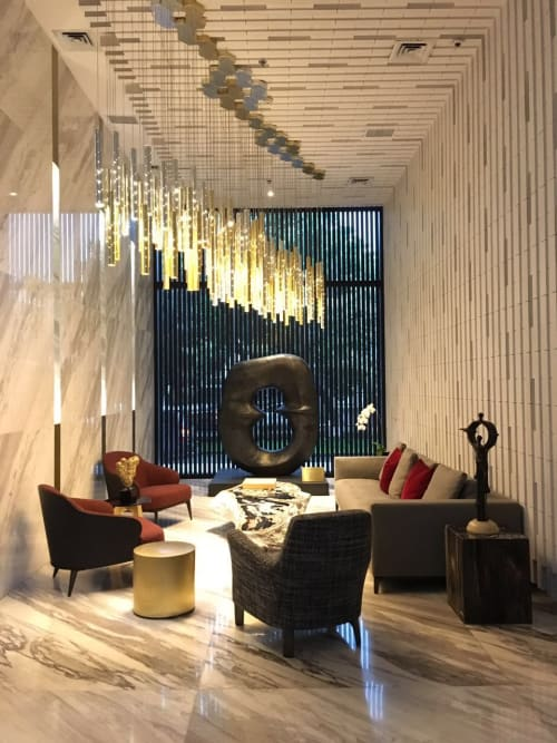 Pendants by ILANEL DESIGN STUDIO seen at Senopati Suites - Heavy Rain Chandelier
