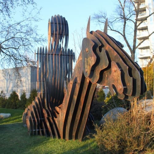 Public Sculptures by Alex Lidagovsky seen at Riviera Riverside Yacht Club, Kyiv - Outdoor Sculpture