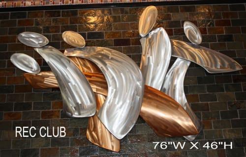 Sculptures by Richard Warrington seen at Seasons Fresh Grill, Coeur d'Alene - Rec Club