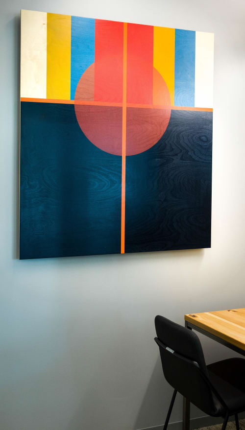 """Paintings by ANTLRE - Hannah Sitzer seen at Google RWC SEA6, Redwood City - """"Registration"""""""