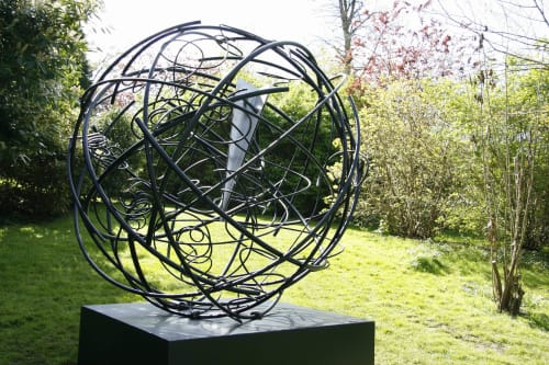 Public Sculptures by Mark Beattie MRSS seen at Burghley House, Peterborough - Global Odyssey