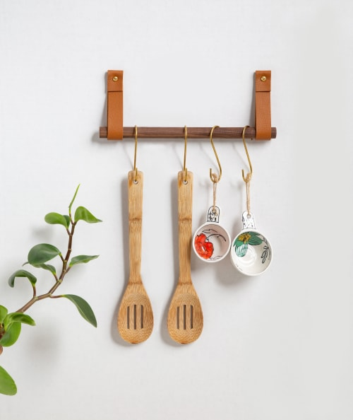 Hardware by Keyaiira | leather + fiber seen at Private Residence - Hanging Dowel Kit [Flat End]
