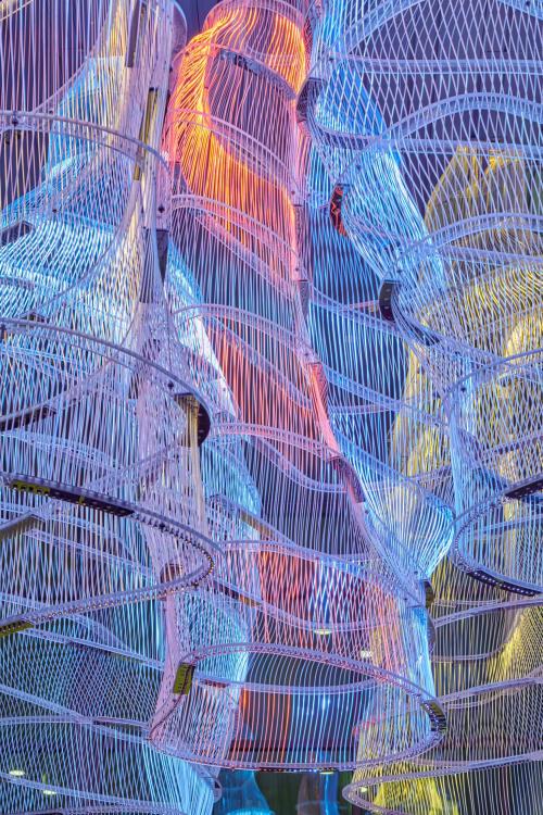 Lighting by Osman Akan seen at El Paso Public Library Sergio Troncoso Branch, El Paso - Voids