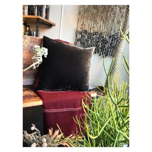 Pillows by Edie Ure Designer and Botanical Dyer seen at Cedar & Hyde Mercantile, Boulder - Charcoal pillow