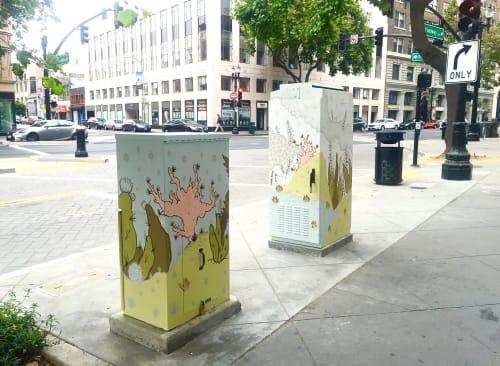 Street Murals by Katherine Rutter seen at Downtown Oakland, Oakland - Street art utility box