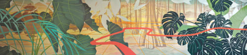 Murals by Anne Blenker seen at Private Residence, New Orleans - Changing Horizons