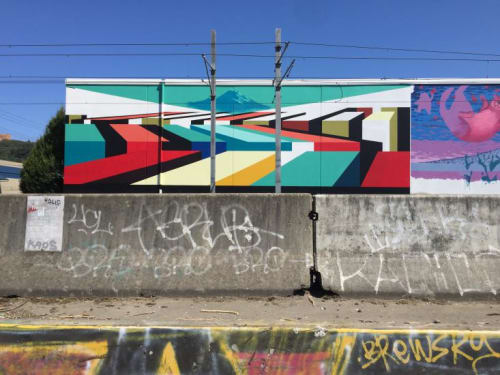 Street Murals by Mary Iverson at SODO, Seattle - SODO Track 2016