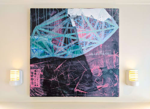 "Paintings by Roberta Aylward seen at Private Residence, Portland - ""Hover"" from ""Nightlight"" Series"