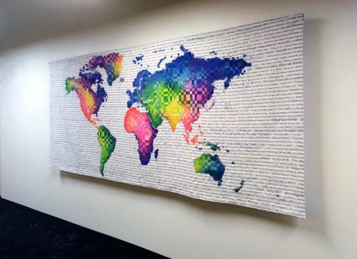Art & Wall Decor by Liz Robb seen at Twitter HQ, San Francisco - Twitter Commission