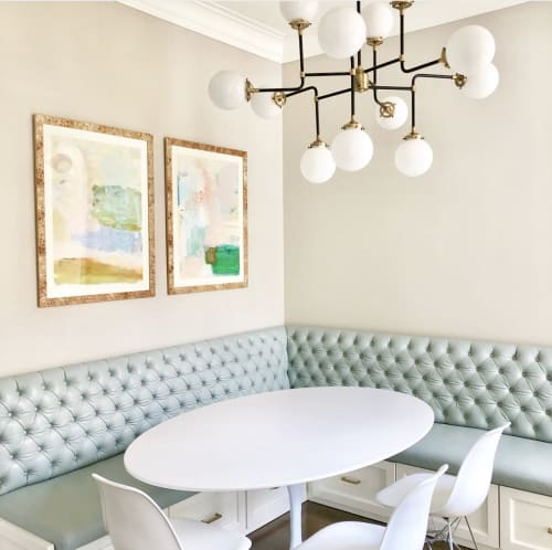 Paintings by Jennifer Pino seen at Private Residence, Dallas - Abstract art