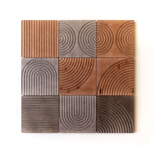 Art & Wall Decor by House Van Holland seen at Private Residence, Culver City - KARVD wall panels (set of six)