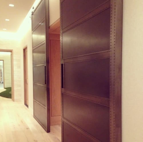 Hardware by Shelton Studios Inc seen at Private Residence, New York - Metal Door