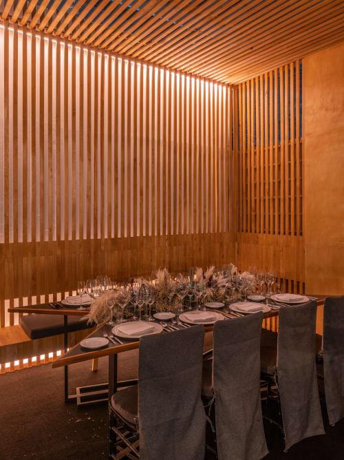 Interior Design by Dos Veintinueve | Taller de diseño seen at Mexico City, Mexico City - Mole Restaurant for Millesime GNP 2018
