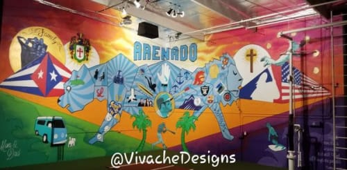 Murals by VIVACHE DESIGNS seen at Los Angeles, Los Angeles - Custom Murals