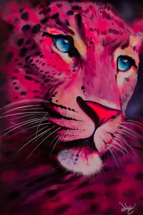 Paintings by Dave Baranes seen at Hôtel Pullman Paris Montparnasse - Ouverture Printemps 2020, Paris - Pink Panther