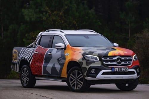 Murals by Highero seen at İstanbul, Istanbul - Mercedes X-Class Graffiti Art