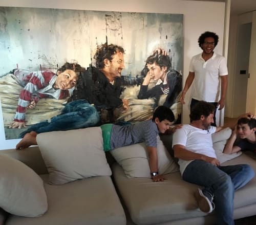 Paintings by Cesar Biojo seen at Private Residence, Barcelona - Portrait Painting