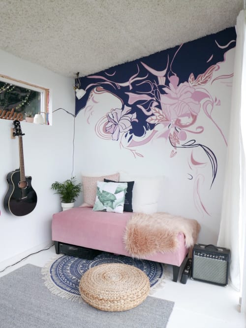 Murals by Marlene Lowden seen at Private Residence - Recording Studio Mural (KP)