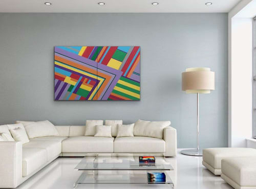 Paintings by Dale Weiss Art seen at Private Residence, Santa Monica - Changing Lanes