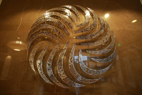 Sculptures by Zammy   Z   Migdal -studio seen at Private Residence, Miami - The Grove