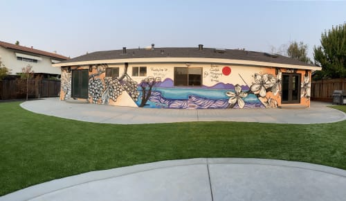Murals by Trent Thompson seen at Private Residence, Livermore - Mony's House