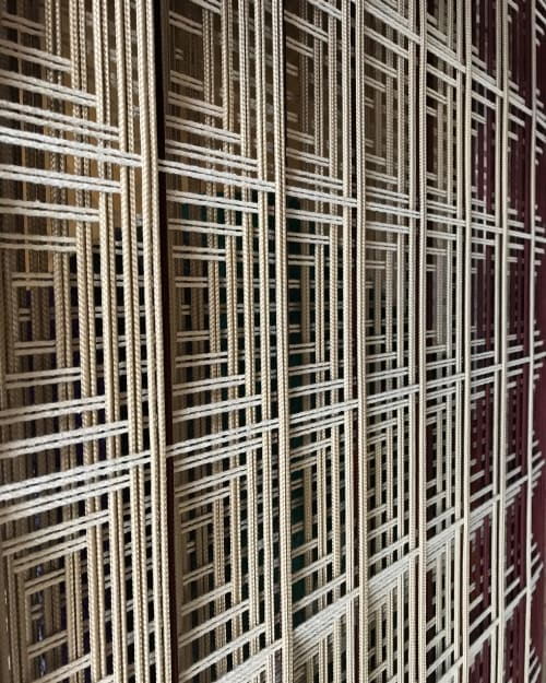 Wall Hangings by Fault Lines seen at Private Residence, Amsterdam - Grid