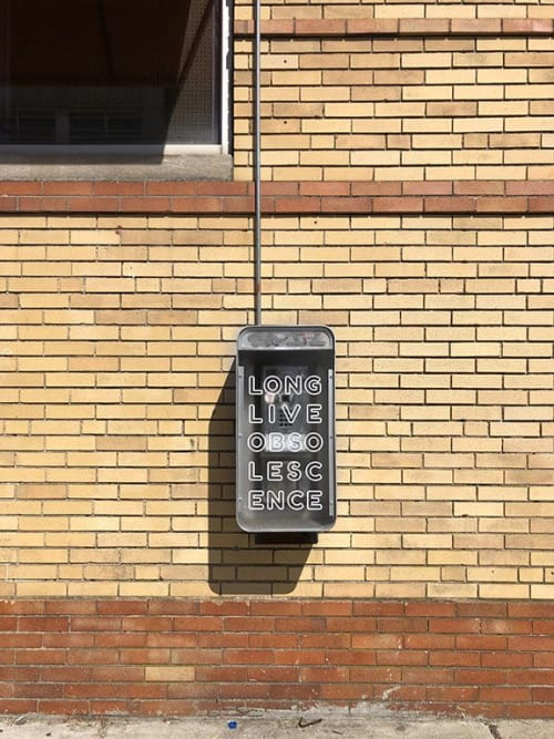 Public Sculptures by Allison Tanenhaus seen at Genki Ya - Somerville, Somerville - Phone Art Box