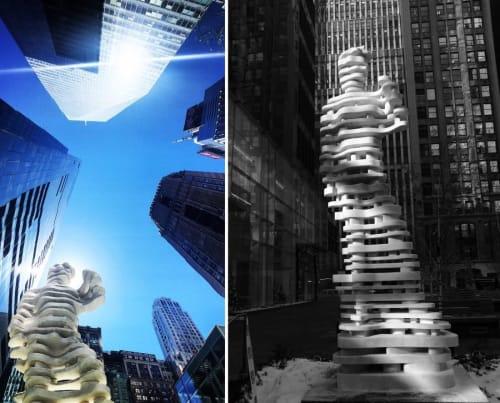 Public Sculptures by Antonio Pio Saracino seen at Bryant Park, New York - The Guardians: Hero