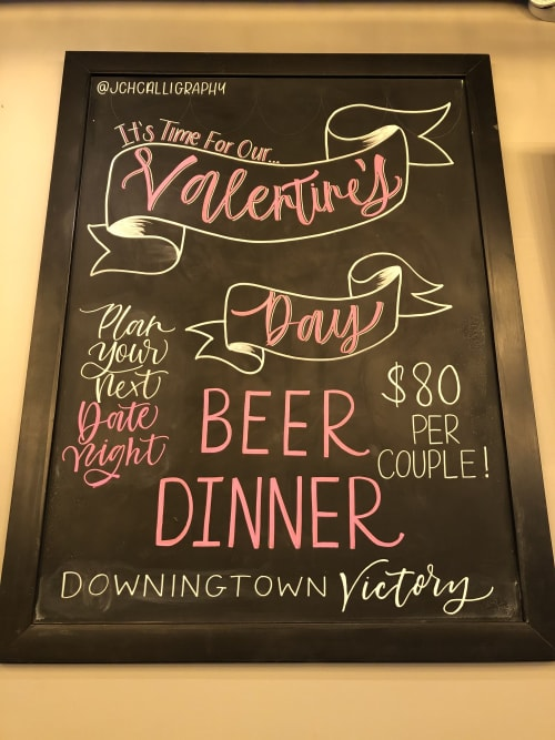 Paintings by HudsonByHand seen at Downingtown, Downingtown - Chalkboard Art