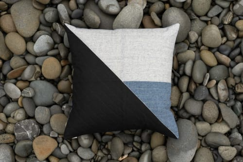 Crater Pillow Cover | Pillows by Vacilando Studios | Captain Whidbey in Coupeville