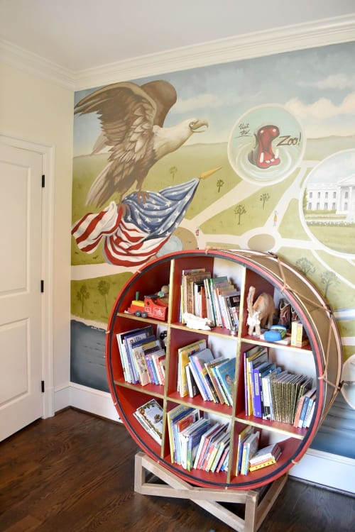 Murals by Nicolette Atelier seen at Private Residence, Washington - Washington DC Map Children's Mural