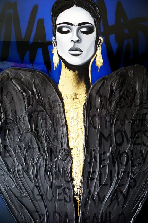 "Paintings by Nickhartist seen at Private Residence, New York - Frida ""Black Heart"""