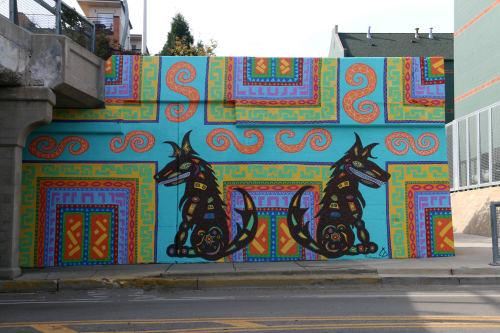 Street Murals by Tony Passero seen at 1800 North Damen Avenue, Chicago, IL, Chicago - CoyWolf Mural