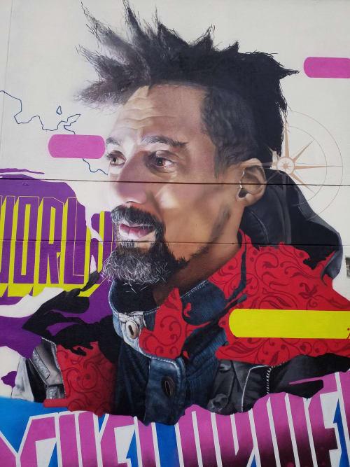 """Street Murals by MATE artist seen at Spandau, Berlin - """" World development """""""