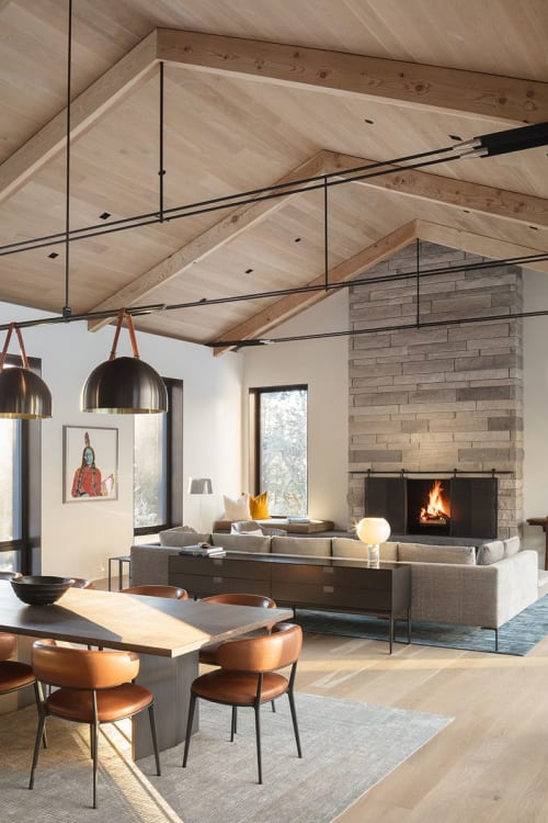 Architecture by CLB seen at Private Residence, Teton Village - Stone Ridge