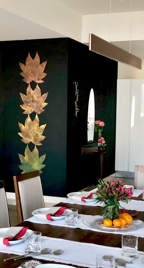 Paintings by sorayart - sorayacaballero seen at Private Residence, Mexico City - Fall leafs