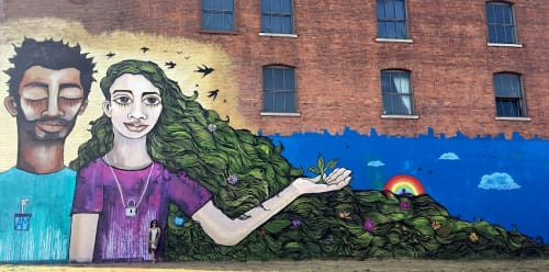 Street Murals by Alice Mizrachi seen at Buffalo Center for Arts and Technology, Buffalo - Dream Keepers