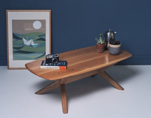 Tables by CHARLIE CAFFYN FURNITURE seen at Private Residence, London - Chantry Oval Coffee Table