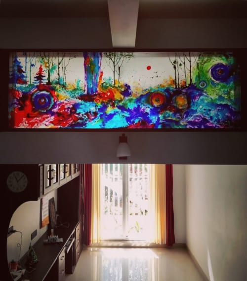 Paintings by Fathima Hakkim seen at Private Residence - Glass Painting