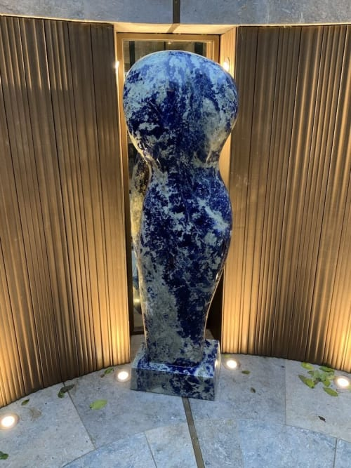 Sculptures by Paul Vanstone Sculptures seen at Private Residence, London - Brazilian Blue Sodalite commission