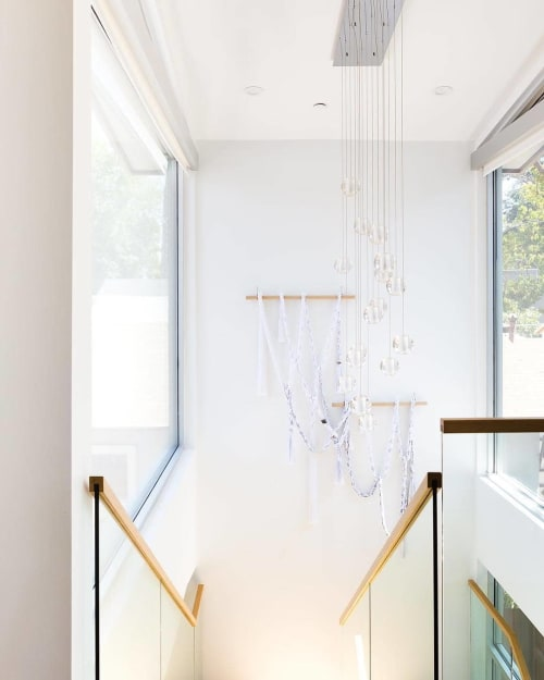 Wall Hangings by Cindy Hsu Zell seen at Private Residence, Los Angeles - Custom Waterfalls Hangings